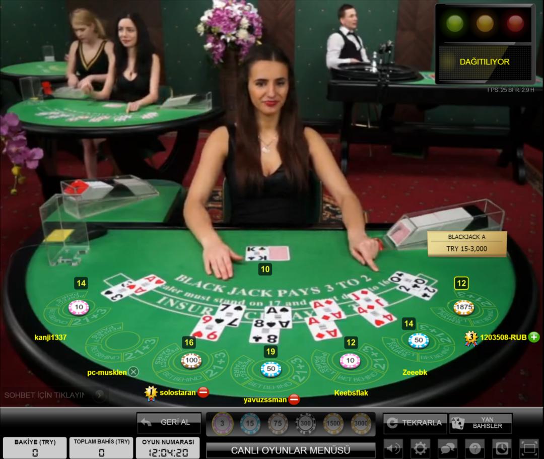 Noxwin Canlı Blackjack Masası