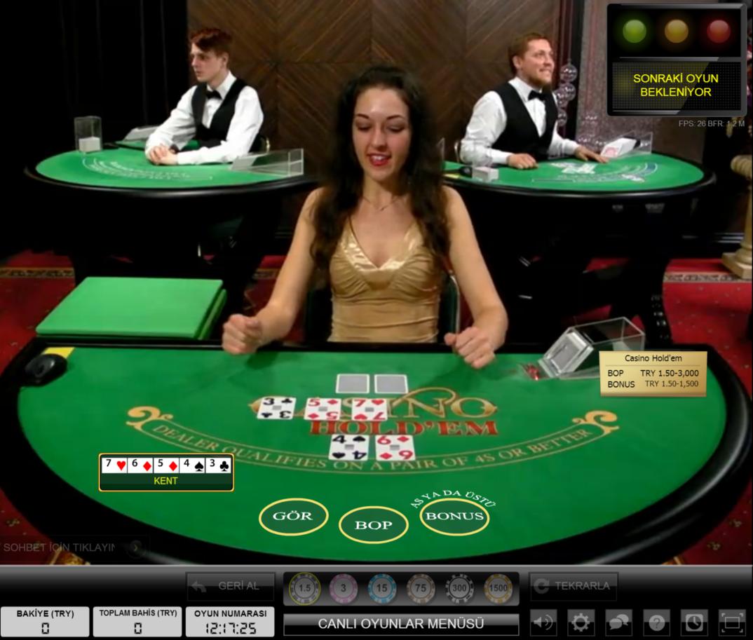 Noxwin Canlı Casino Holdem Masası